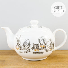 V&A Alice in Wonderland Gold Detail Fine China Mini Teapot Gift Set