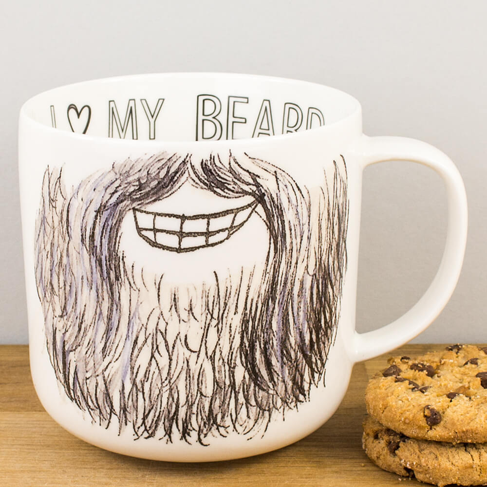 Creative Tops I Heart My Beard Funny Fine China Mug For Him