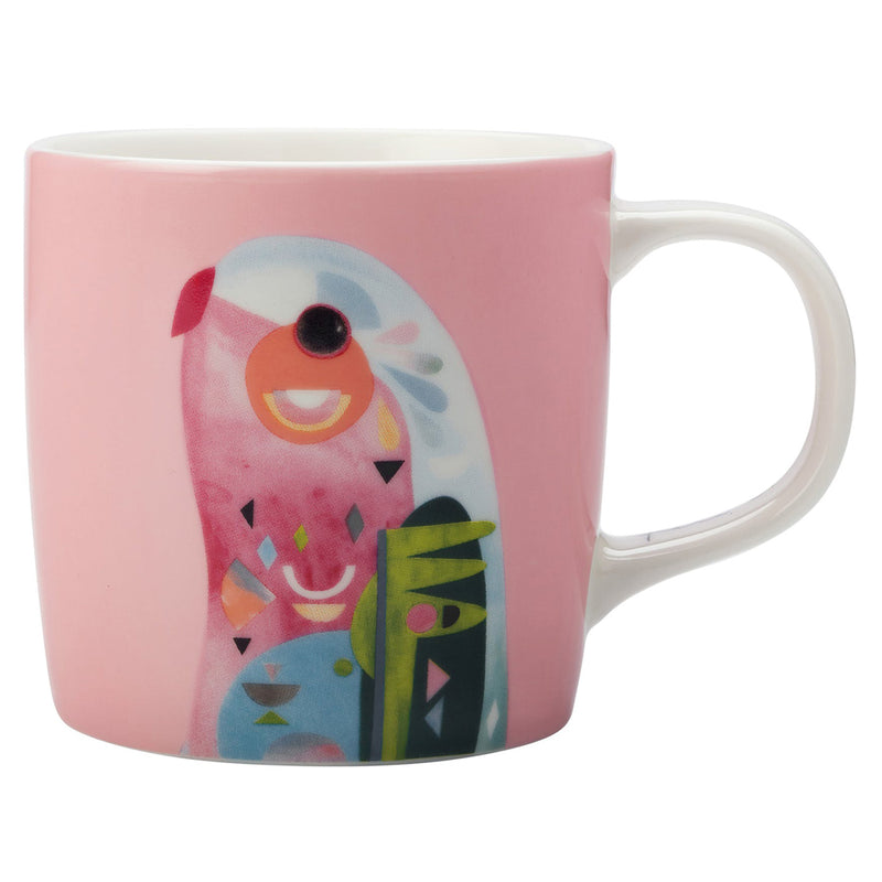 Maxwell & Williams Pete Cromer Australian Parrot Pink Gift Boxed Mug