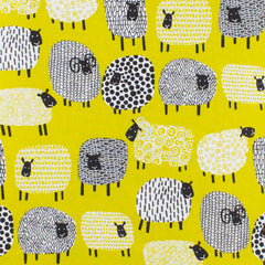 Ulster Weavers Dotty Sheep Mustard Yellow Patterned Cotton Tea Towel