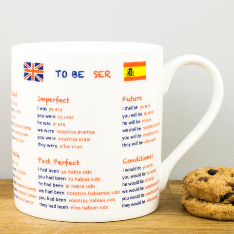Educational Spanish Translation China Mug