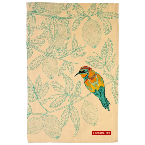 Eden Project Bee-Eater Cotton Tea Towel