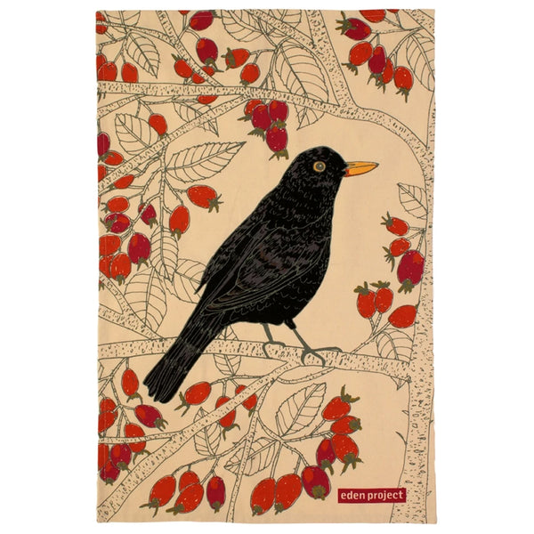 Eden Project Blackbird Cotton Tea Towel
