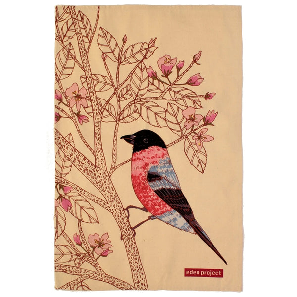 Eden Project Bullfinch Cotton Tea Towel