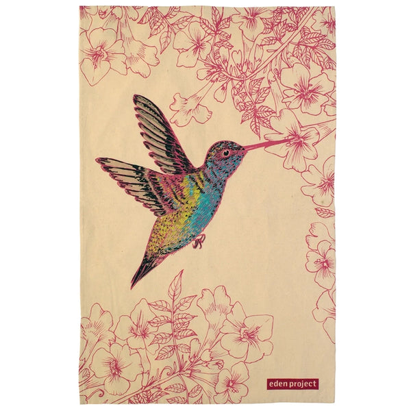 Eden Project Hummingbird Cotton Tea Towel