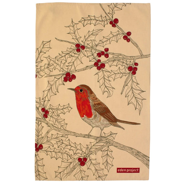 Eden Project Robin Cotton Tea Towel