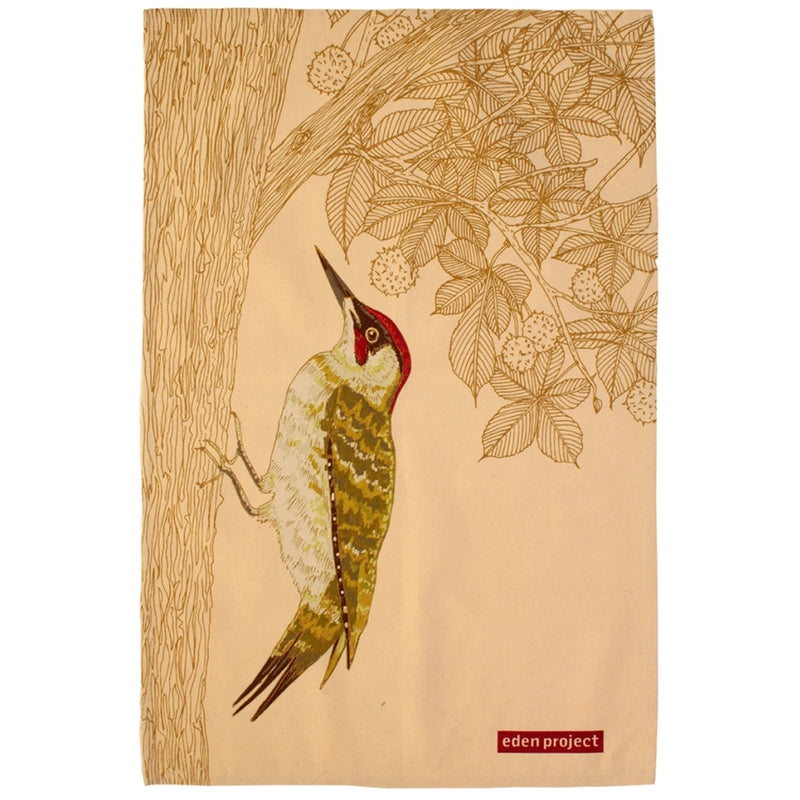 Ulster Weavers Eden Project Woodpecker Cotton Tea Towel Made in the UK