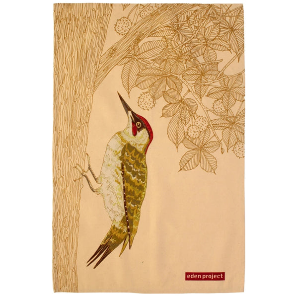 Eden Project Woodpecker Cotton Tea Towel