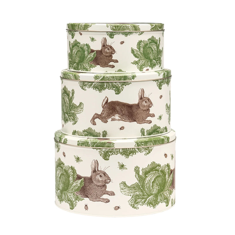 Thornback & Peel Rabbit & Cabbage Set of 3 Round Nesting Cake Tins