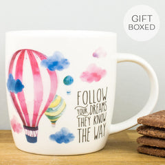 Legami Follow Your Dreams Personalised Gift Box Mug