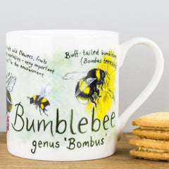 McLaggan Bumblebee by Ginger Bee Bone China Personalised Gift Mug