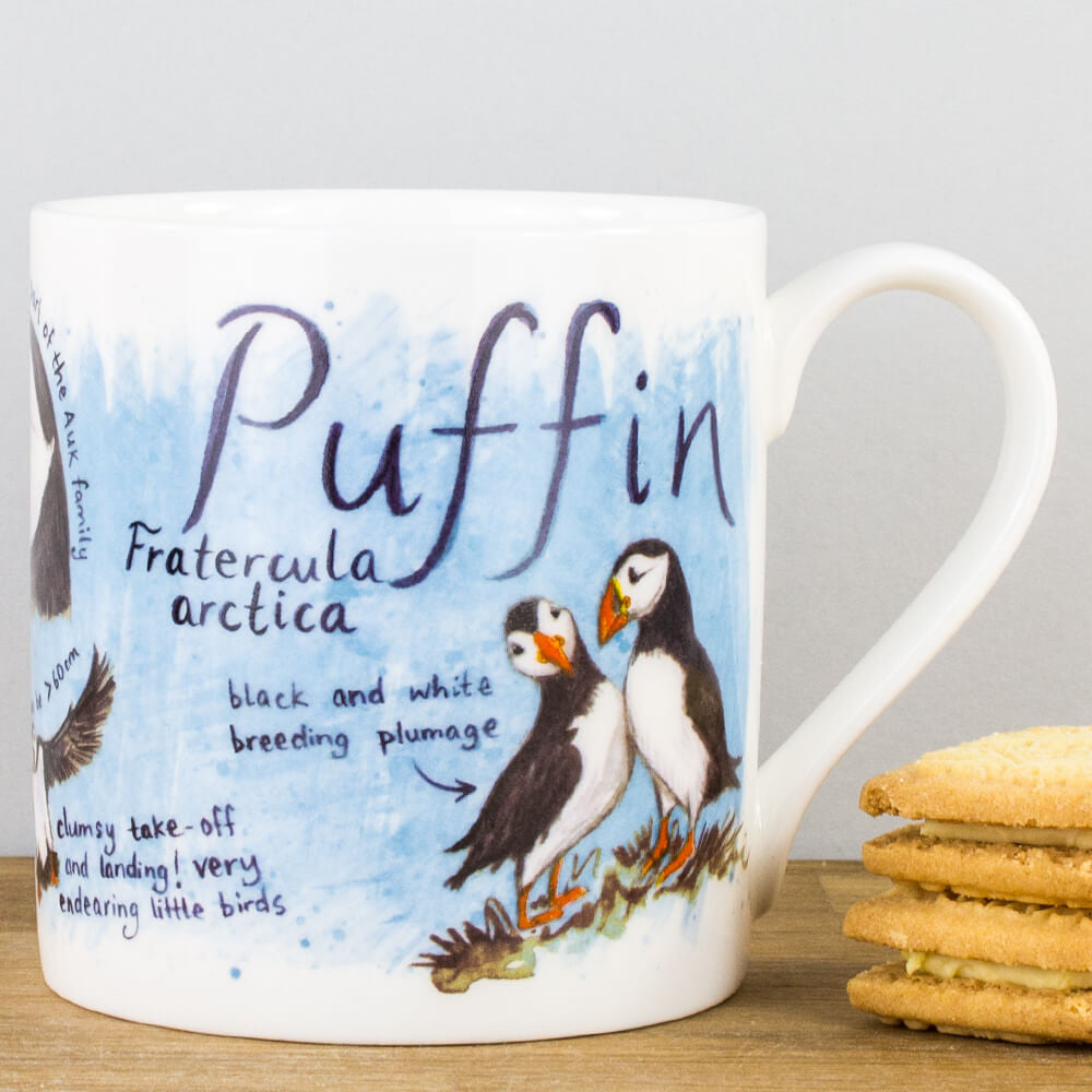 McLaggan Puffin Bird by Ginger Bee Bone China Personalised Gift Mug