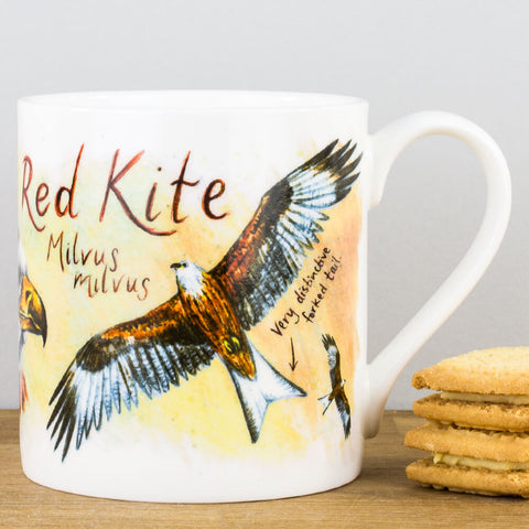 Red Kite China Mug by Ginger Bee