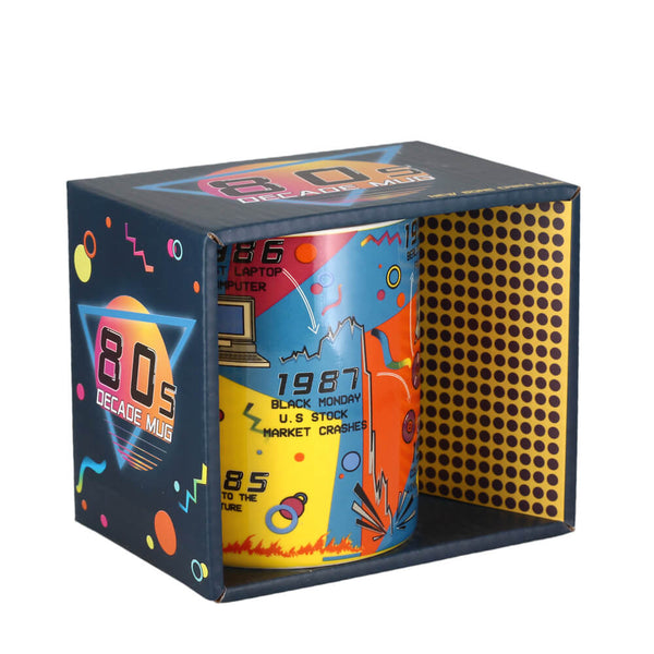 Gift Republic 80s Decade Themed Gift Boxed Coffee Mug
