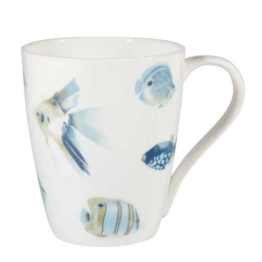 Churchill China Harlequin Kamanu Blue Tropical Fish Bone China Mug