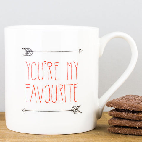 You're My Favourite China Mug by Heidi Nicole