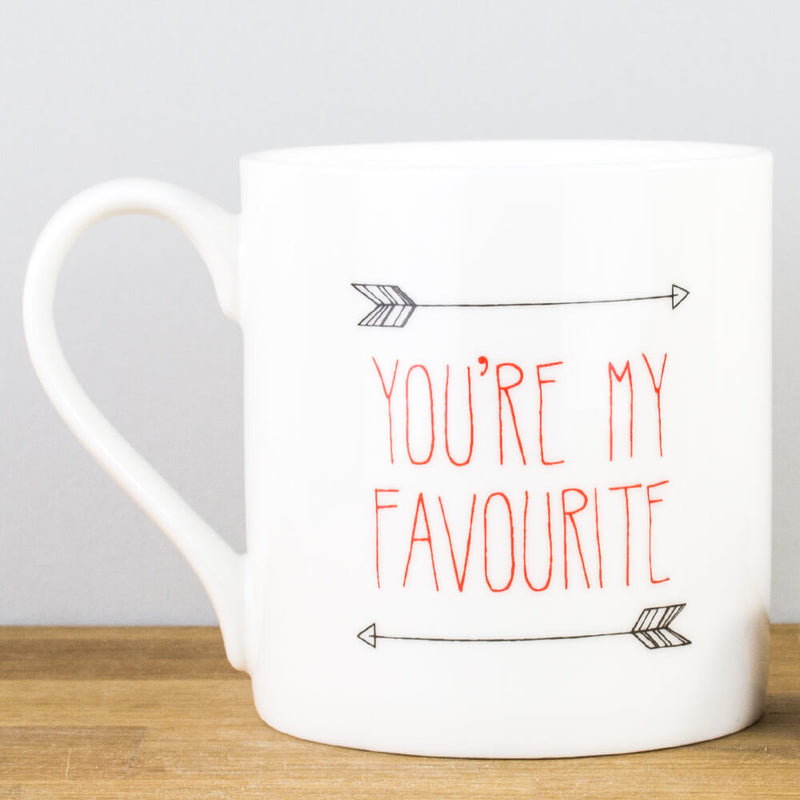 McLaggan Romantic You're My Favourite Bone China Personalised Gift Mug