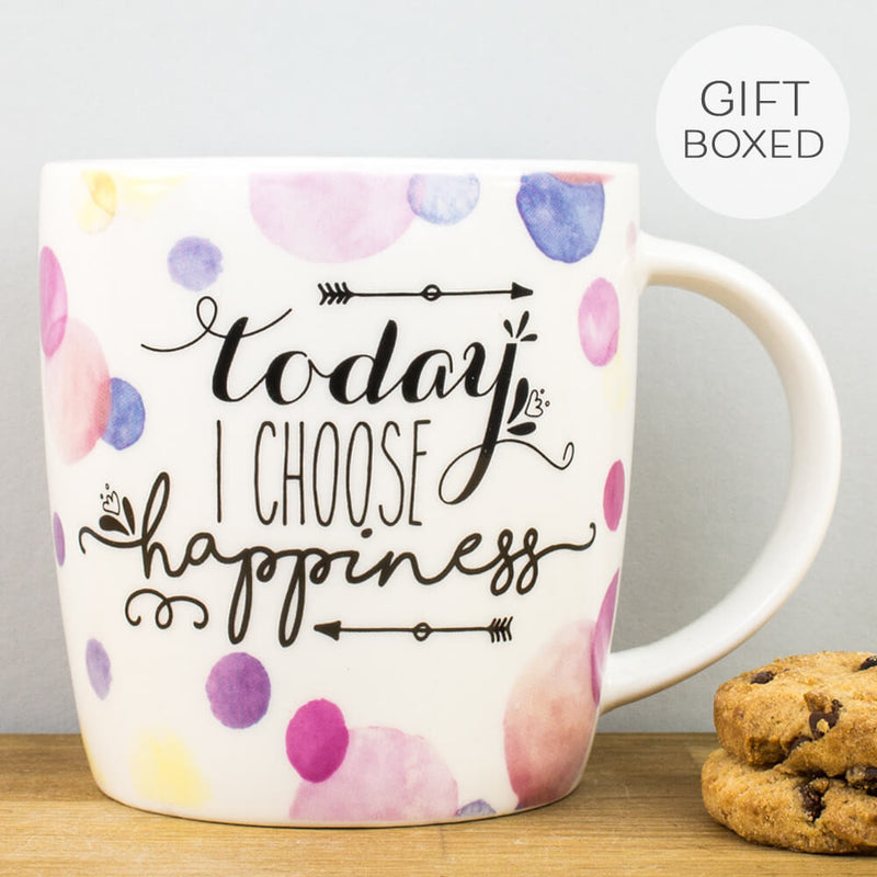 Buongiorno Today I Choose Happiness China Mug