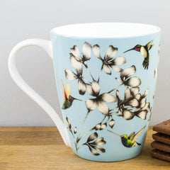 Churchill China Harlequin Amazilia Sky Blue Bone China Gift Boxed Mug