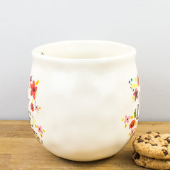 Natural Life A Cup of Love Floral Rounded 520ml Large Ceramic Mug