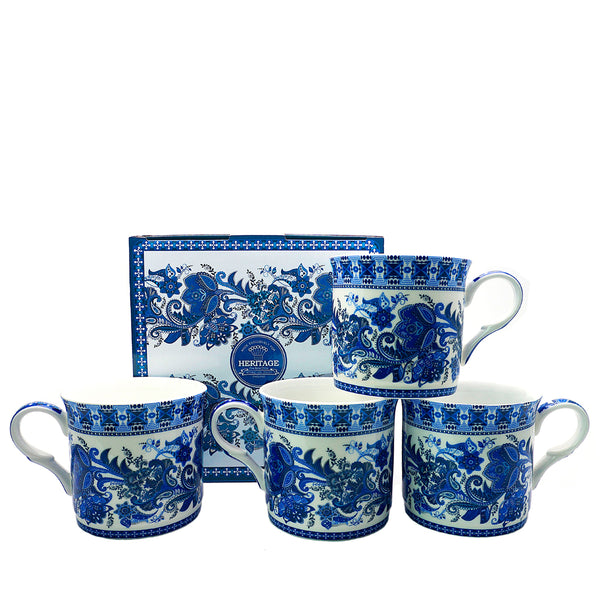 Heritage India Blue Mug Set