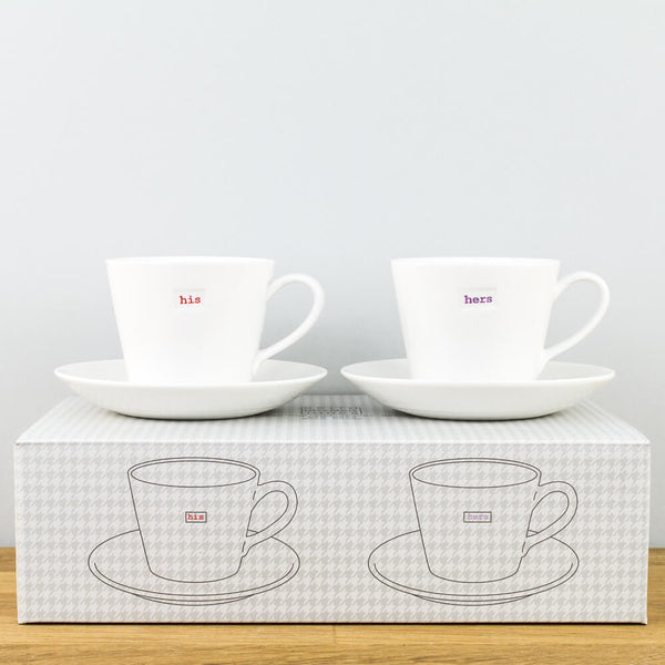 Keith Brymer Jones His & Hers Espresso Cup & Saucer Set