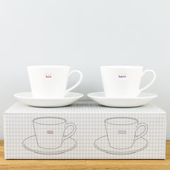 Keith Brymer Jones His & Hers Espresso Cup & Saucer Gift Boxed Set