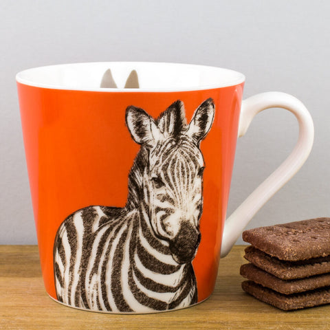 Couture Kingdom Zebra China Mug by Churchill China