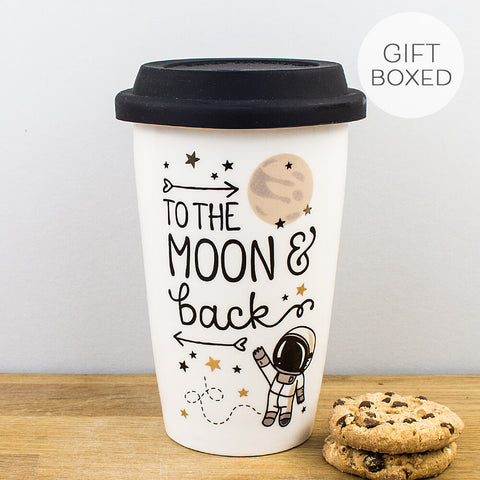 Legami To The Moon And Back Porcelain Travel Mug