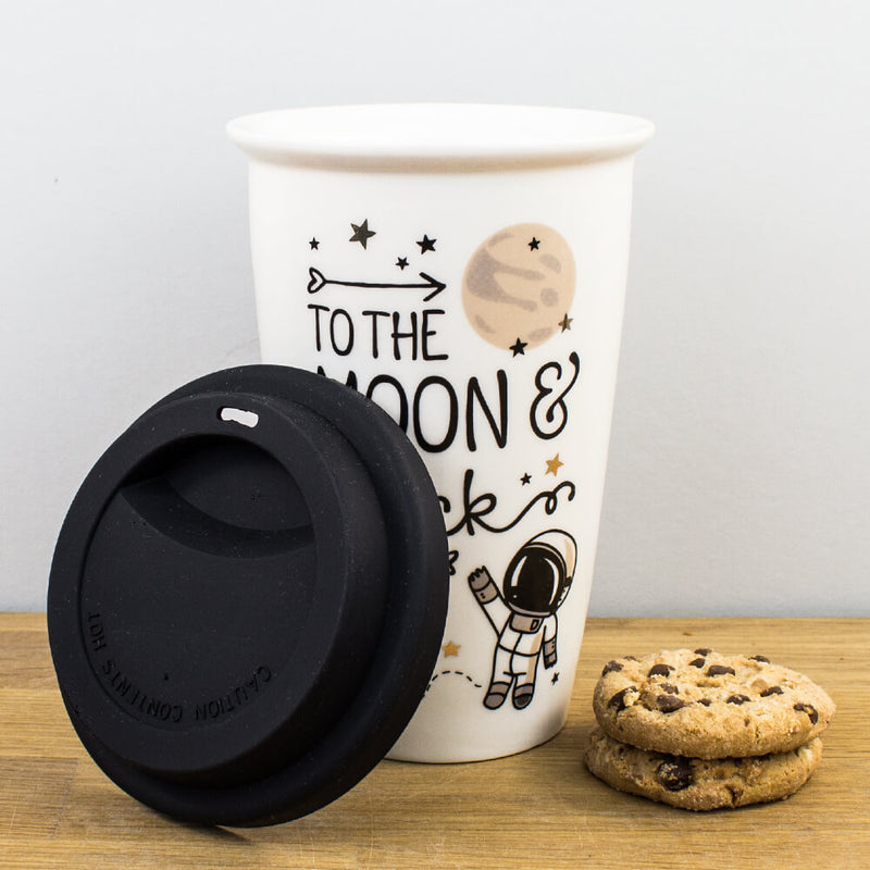 Legami To The Moon and Back Astronaut Space Double Wall Travel Mug