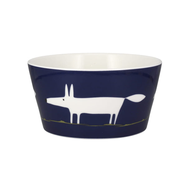 Scion Mr Fox Indigo Breakfast Bowl