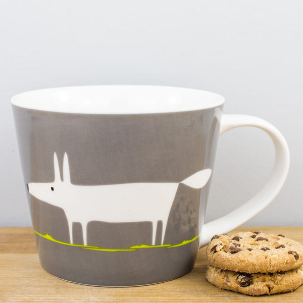 Scion Mr Fox Charcoal & Lime Large China Mug