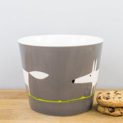 Spike Yellow & Charcoal Large 525ml Personalised Gift Mug by Scion