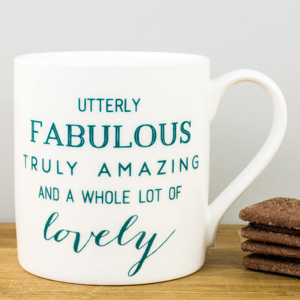 McLaggan Fabulous Amazing Lovely Personalised Gift Mug by Megan Claire