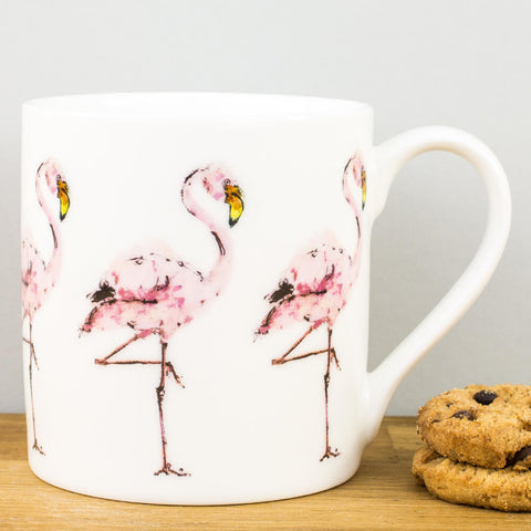 Flamingos China Mug by Madeleine Floyd