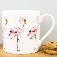 McLaggan Madaleine Floyd Flamingos Bone China Personalised Gift Mug