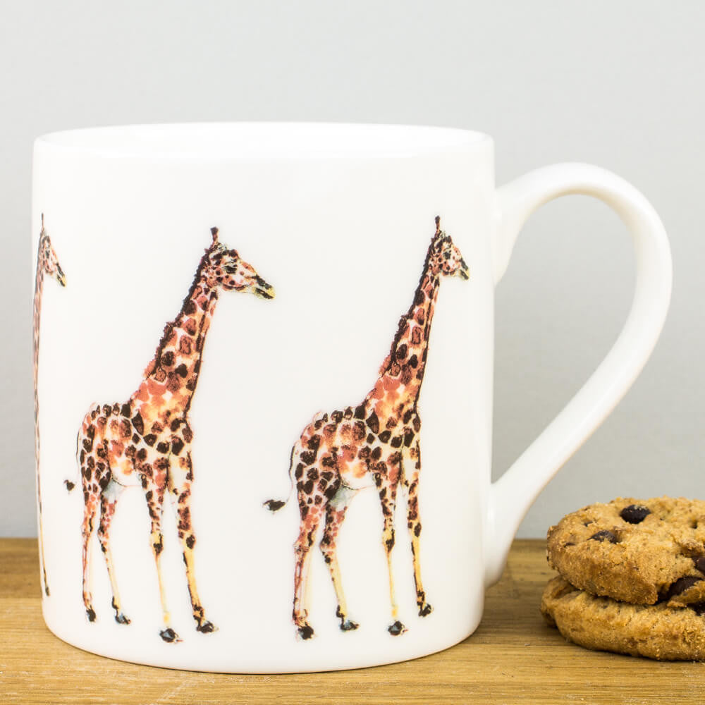 McLaggan Madaleine Floyd Giraffe Bone China Personalised Gift Mug