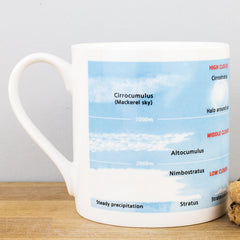 Educational Cloud Formation Bone China Personalised Gift Mug