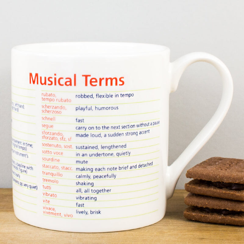 McLaggan Educational Musical Terms Bone China Personalised Gift Mug