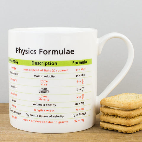 Educational Physics Formulae China Mug