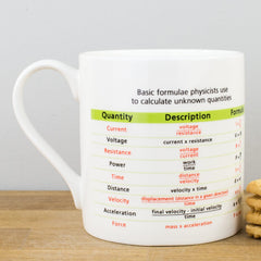 Educational Science Physics Formulae Bone China Personalised Gift Mug