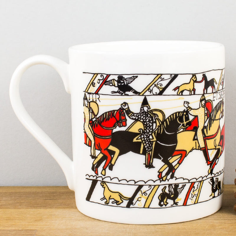 Historical Bayeux Tapestry Archers Bone China Personalised Gift Mug