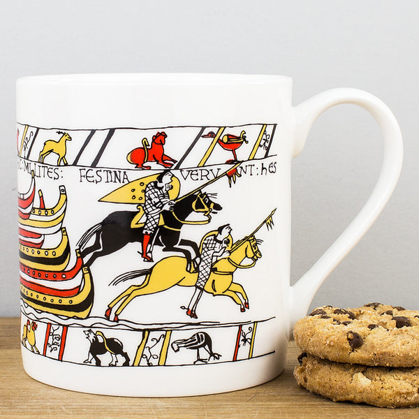 Heritage Bayeux Tapestry Disembarkation China Mug