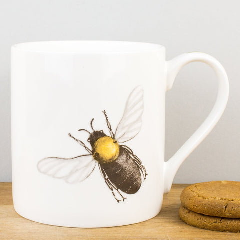 Bee China Mug by Holly Lasseter