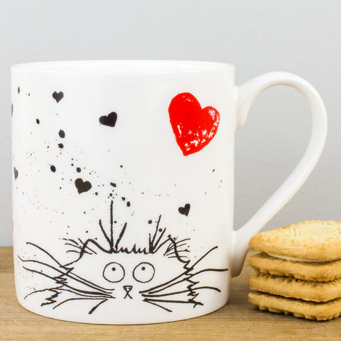 Loving Feline China Mug by Kim Haskins