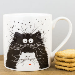 McLaggan Smith You're Purrfect Black & White Cats Bone China Gift Mug