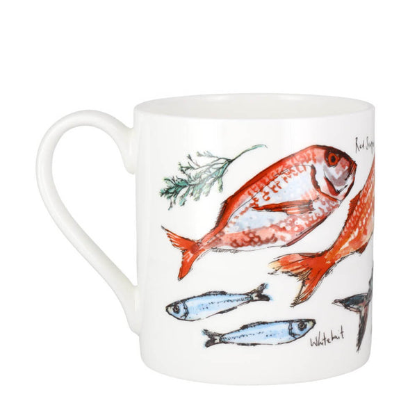 McLaggan Madeleine Floyd Fish Bone China Gift Mug 380ml Coffee Cup