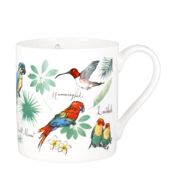 McLaggan Madeleine Floyd Tropical Birds Bone China Gift Mug 380ml Cup