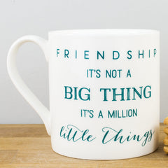 McLaggan Friendship Teal Personalised Gift Mug by Megan Claire