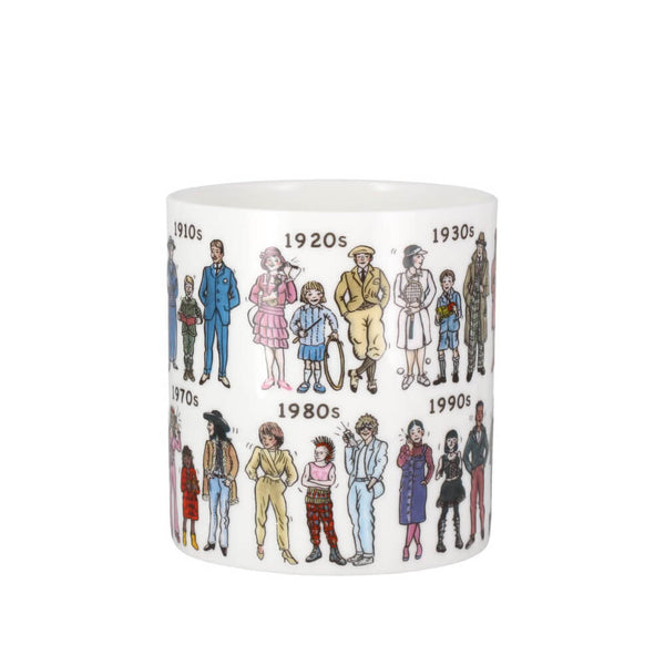 McLaggan Picturemaps Fashion Through The Decades Bone China Mug